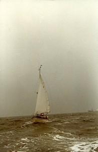 Aan de wind op de Elbe