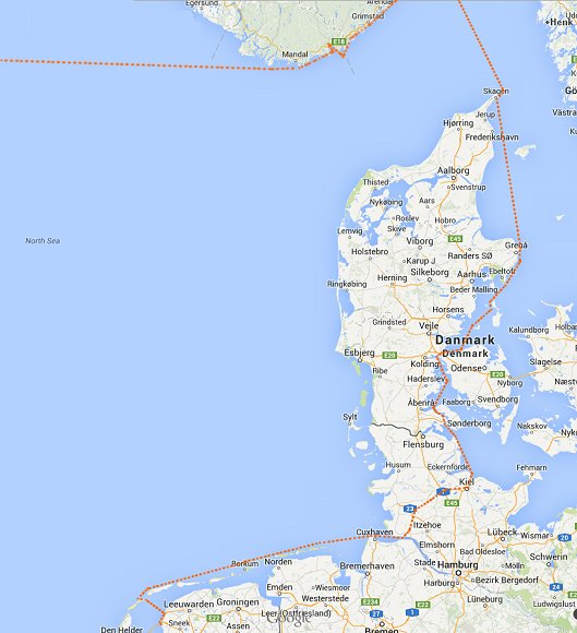 Route Skagen - Makkum