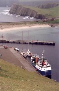 De noorderhaven van Fair Isle