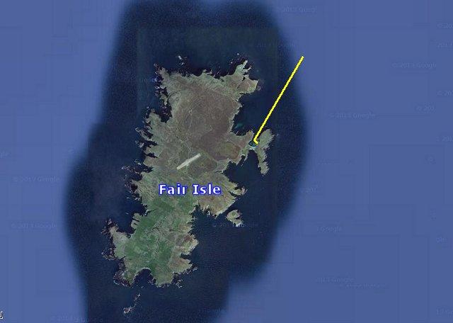 De koers in het haventje van Fair Isle