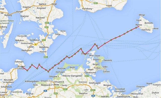 De kruisslagen tussen Bornholm en Fehmern