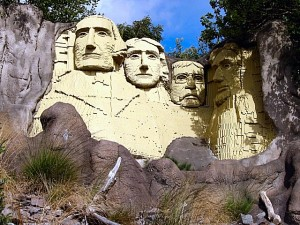 Mount Rushmore in Billund