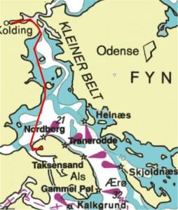 Route Dyvig-Kolding