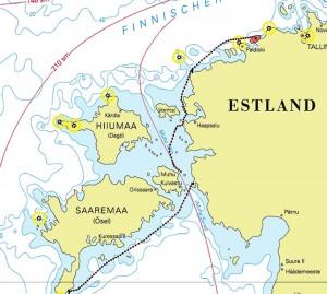 De route in Estland