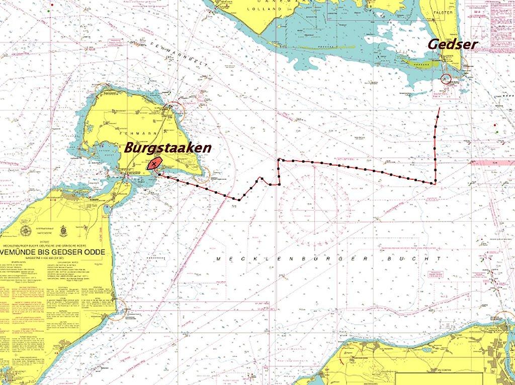 Route Gedser Burgstaaken