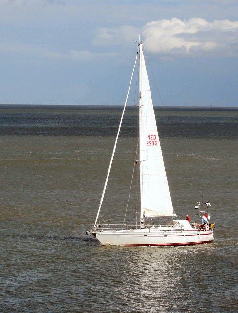Jaap Woltjer maakte deze foto bij ons vertrek uit Cuxhaven