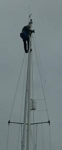 In de mast