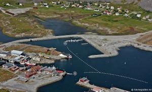 De foto van Vaeroy zoals aangegeven in Havneguiden