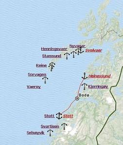 Route Helnessund-Stott