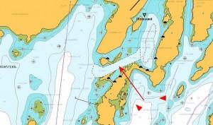 De 'nieuwe' toegang tot de haven van Stamsund