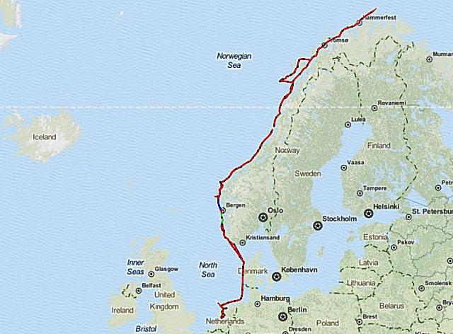 De route 2012: Voor de tweede keer naar de Noordkaap