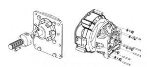 De conversiebox tussen motor en saildrive