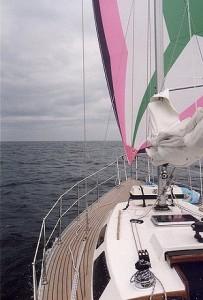De halfwinder zorgt voor voortgang bij zwakke wind