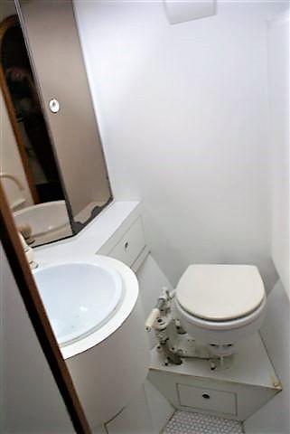Het voorste toilet bij aankoop in 2008