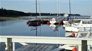 Het haventje van Store Rör , 's morgens vroeg